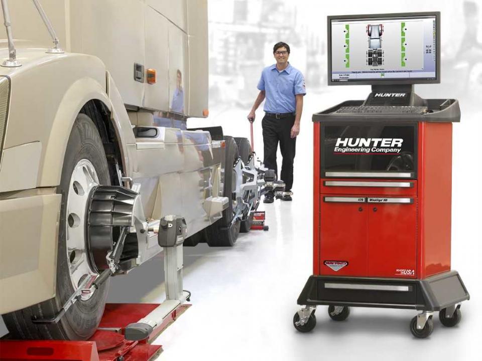 Hunter Hawkeye Alignment Machine